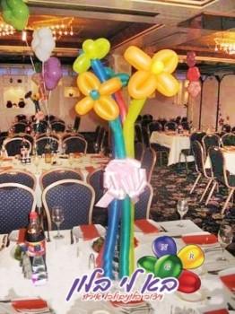 עיצוב פרחים מבלונים לשולחן אירועים פרטיים לא לנקות - עותק