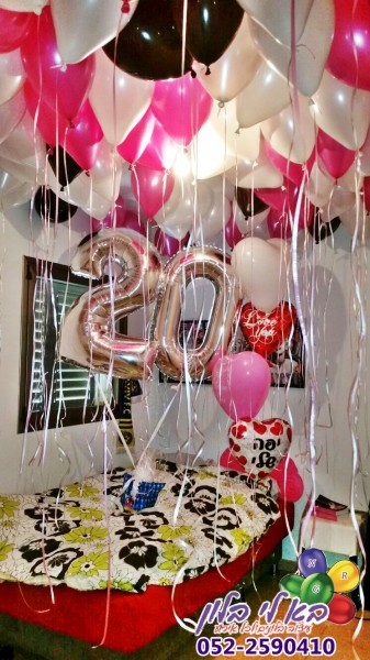 עיצוב חדר יום הולדת 20