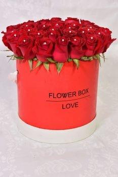 ורדים ב- flowers box אדום 349 שח