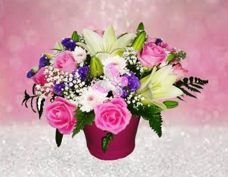 סידור פרחים בקרמיקה 159 שח