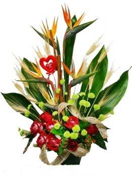 סידור פרחים גן עדן מקסים 269 שח