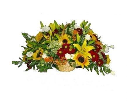 סלסלת פרחים בניחוח כפרי 150 שח